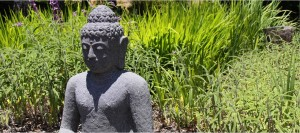Stone Buddha with Grass by Baylan Megino